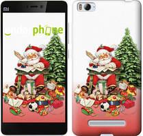 "Чехол на Xiaomi Mi4i Дед Мороз с подарками ""219c-177"""