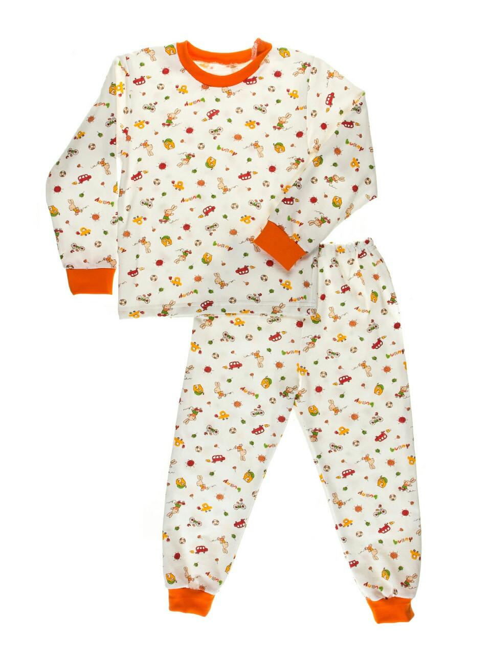 """Пижама детская, теплая с начесом, белый фон - ООО """"АМТ-ГРУП"""" - одежда для всех в Одессе"""