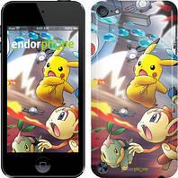 Чехол на iPod Touch 5 Красный, Покемоны pokemon go v2