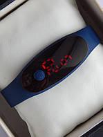 Спортивные наручные led часы в виде браслета синего цвета, фото 1