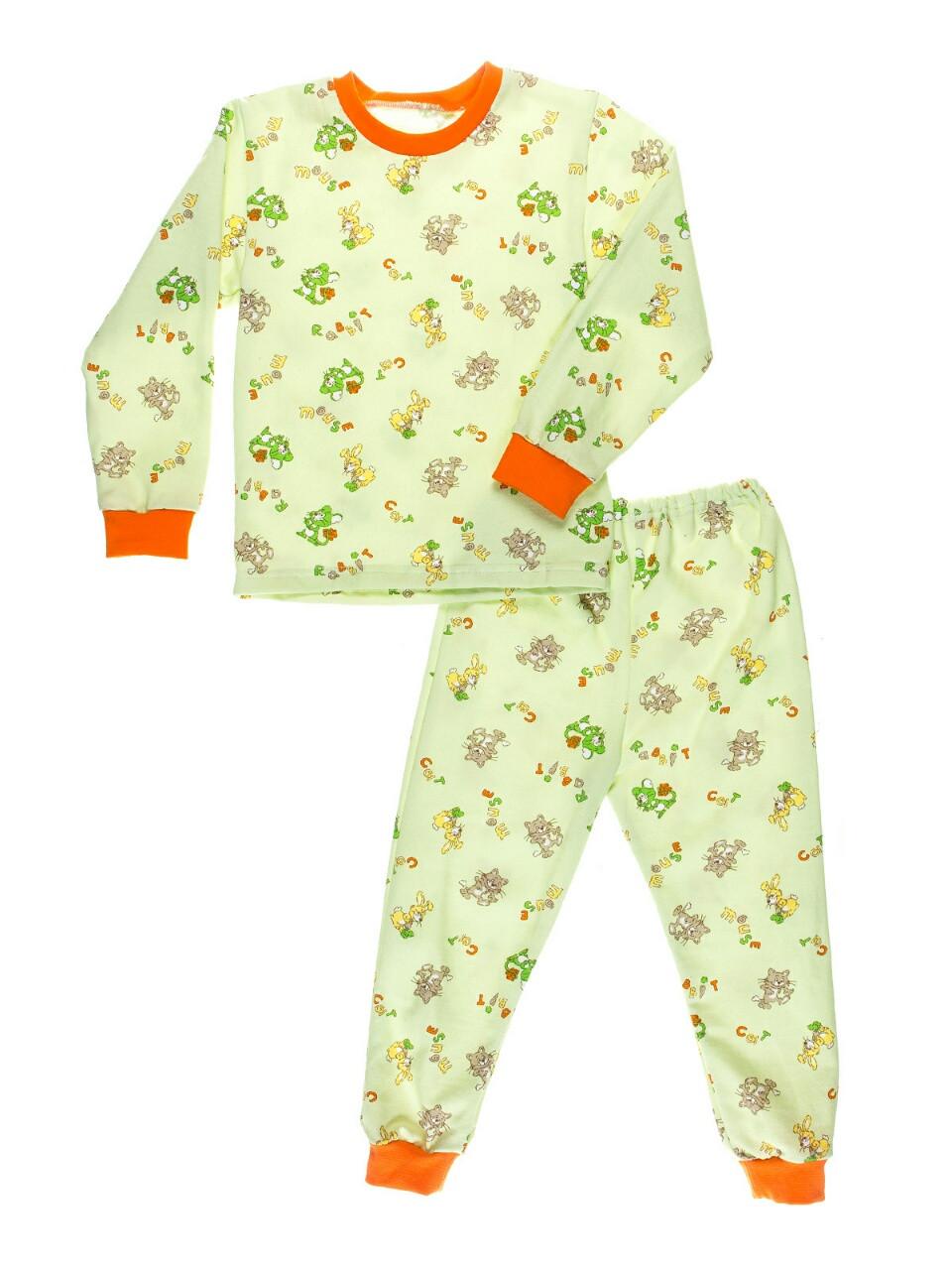 """Пижама детская, теплая с начесом, салатовый фон - ООО """"АМТ-ГРУП"""" - одежда для всех в Одессе"""