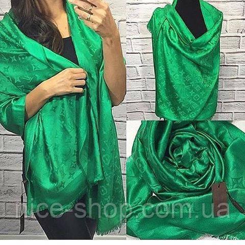 Палантин Louis Vuitton зеленый