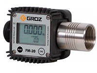 Groz 45650 FM-20/0-1/BSP цифровой счетчик топлива (бензин, дизель, керосин)