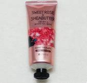 Крем для рук омолаживающий Сладкая Роза Rose Sheabutter Hand Therapy Moisture Repair Anti-Wrinkle