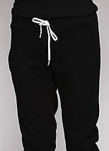Штаны мужские теплые на флисе, черные, фото 2
