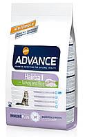 Advance Cat Hairball Turkey & Rice 1,5кг-корм для кошек не покидающих помещение с индейкой и рисом