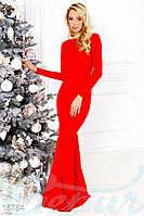 Новогоднее вечернее платье. Цвет красный.