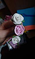 """Набор из трех шпилек с цветами """"Розочки"""""""