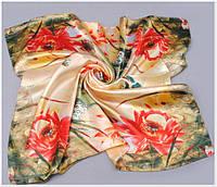 Цветочный шифоновый платок.Стильный аксесуар. Отличное качество. Доступная цена. Купить недорого. Код: КГ8