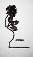 Роза кованая - держатель для бумаги, фото 1