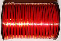 Лента декоративная для подарков/украшения Красный