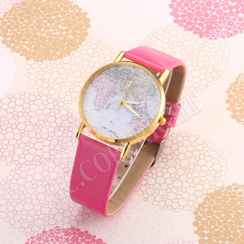 Часы женские наручные Planet Карта мира pink (розовый)