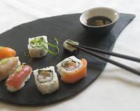 Блюдо для подачи суши 39,5 х 24,5 см; капля, натур., сланец