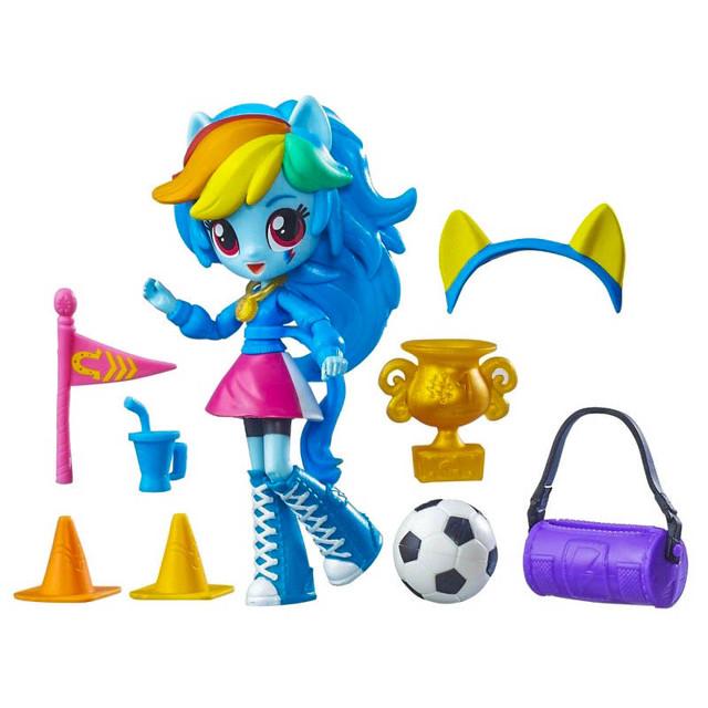 Hasbro B8025 Equestria Girls Minis Мини-кукла Радуга Школа болельщиц (Equestria Girls Minis RainbowDash Pep Rally Set)
