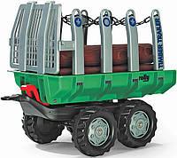 Прицеп самосвал Rolly Timber Trailer для трактора Rolly Toys зеленый