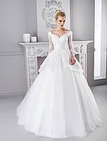 Необычное свадебное платье-трансформер со съемной юбкой из тонкой сетки