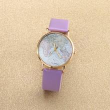 Часы женские наручные Planet Карта мира purple (фиолетовый)