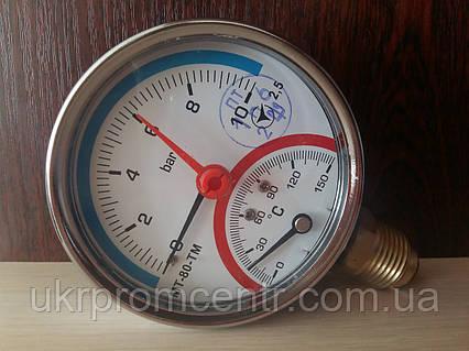 Манометр с термометром (термоманометр) МТ-80-0ТМ-Р, МТ-80-ТМ-О