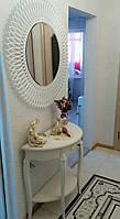 Зеркало декоративное круглое, геометрический узор,  900х900мм