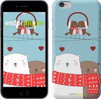 """Чехол на iPhone 6 Plus Мишки и птички """"3375c-48"""""""