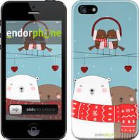 """Чехол на iPhone 5s Мишки и птички """"3375c-21"""""""
