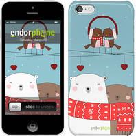 """Чехол на iPhone 5c Мишки и птички """"3375c-23"""""""