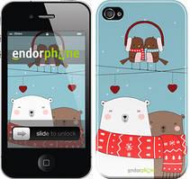 """Чехол на iPhone 4s Мишки и птички """"3375c-12"""""""