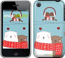 """Чехол на iPhone 3Gs Мишки и птички """"3375c-34"""""""