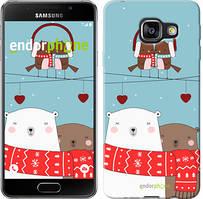"""Чехол на Samsung Galaxy A3 (2016) A310F Мишки и птички """"3375c-159"""""""