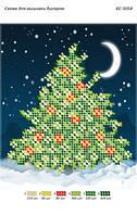 """Схема для частичной вышивки бисером """"Новогодняя елка"""""""