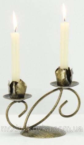 Кованый подсвечник на 2 свечи
