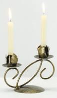 Кованый подсвечник на 2 свечи, фото 1