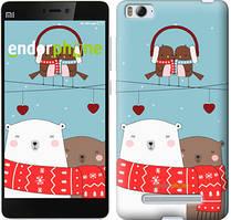 "Чехол на Xiaomi Mi4i Мишки и птички ""3375c-177"""