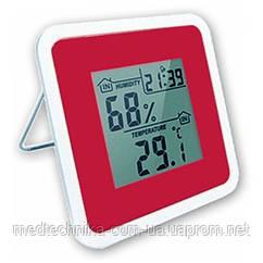 Термометр-гигрометр цифровой, часы,будильник, память T-07