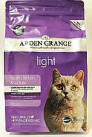 Arden Grange Cat Light Fresh Chicken and Potato 2 кг -беззерновой низкокаллорийный корм для кошек