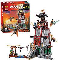 "Конструктор типа Лего Ниндзяго Ninja ""Осада Маяка"" 815 деталей. Аналог Lego Ninjago 70594"