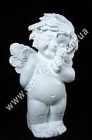 33051 Ангелочек - стесняшка большой, высота ~ 60 см, фигура полистоун