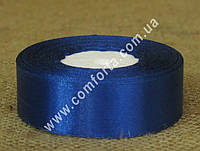 33713502 Лента атласная синяя в рулоне, ширина ~ 2,5 см, длина ~ 23 м