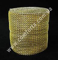 29476-01 Лента декоративная золотистая, ширина ~ 12 см, длина ~ 9 м