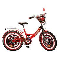 Детский двухколесный велосипед,20 дюймов (арт.CS 201) Тачки, красно-черный