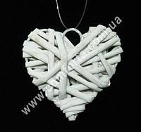 25985 Сердце подвесное, диаметр ~ 6 см, декор свадебный