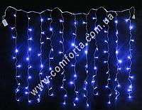 34137-07 Штора, гирлянда электрическая светодиодная одноцветная ультрафиолет (144 led, 12 полос), размеры ~ 2,6 м х 1,2  м