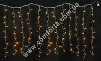34137-01 Штора, гирлянда электрическая светодиодная одноцветная желтая (144 led, 12 полос), размеры ~ 2,6 м х 1,2 м