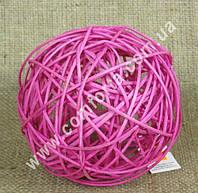 31436-07 Шарик из ротанга фуксия, диаметр - 13 см