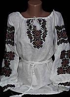 Женская вышиванка на льне, фото 1