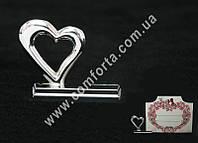 33991 Сердце, держатель свадебных рассадочных карточек, размеры ~ 2,8 см x 3,4 cм