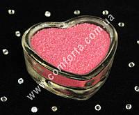 25173300 Цветной песок мраморный розовый, вес ~ 1 кг, фракция ~ 0,2 - 0,5 мм