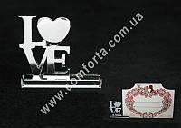 33992 Love, держатель свадебных банкеток, размеры ~ 3 см x 3,4 см