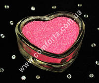25173301 Цветной песок мраморный ярко-розовый, вес ~ 1 кг, фракция ~ 0,2 - 0,5 мм