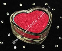 25173303 Цветной песок мраморный малиновый, вес ~ 1 кг, фракция ~ 0,2 - 0,5 мм